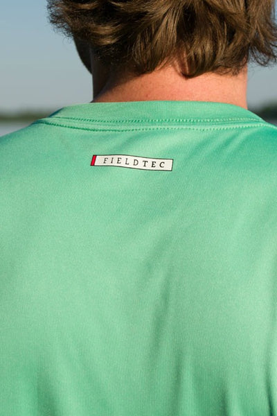 Southern Marsh: FieldTec Short Sleeve Performance Tee, Bimini Green