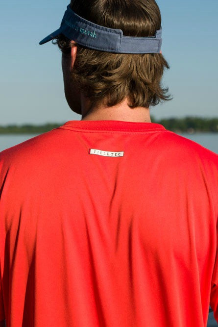 Southern Marsh: FieldTec Short Sleeve Performance Tee, Coral
