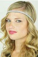 Pink Pewter: Genevieve Stretch Band, Silver