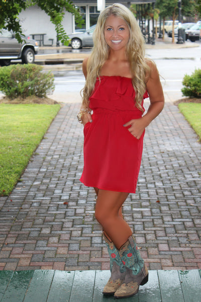 Glam: Lilly Dress, Red
