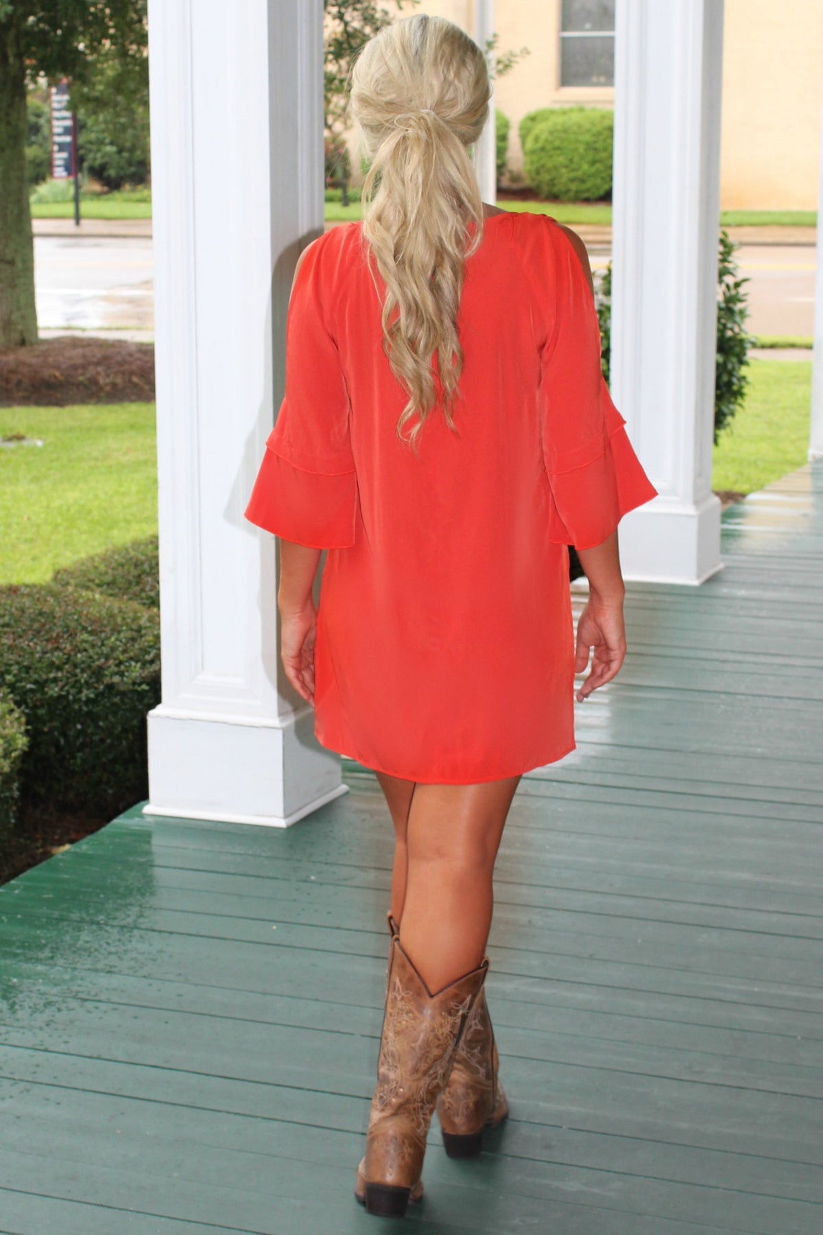 Glam: Laney Dress, Orange