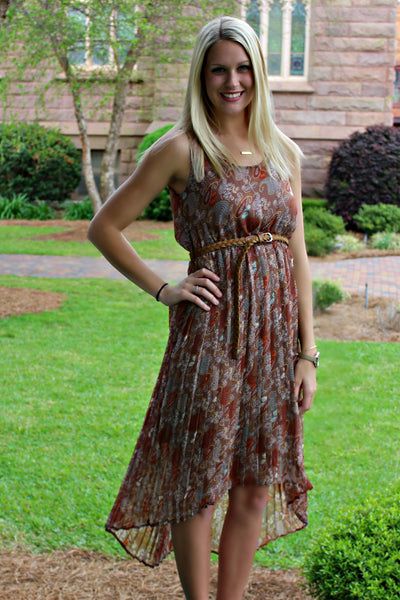 Laura Dress, Brown