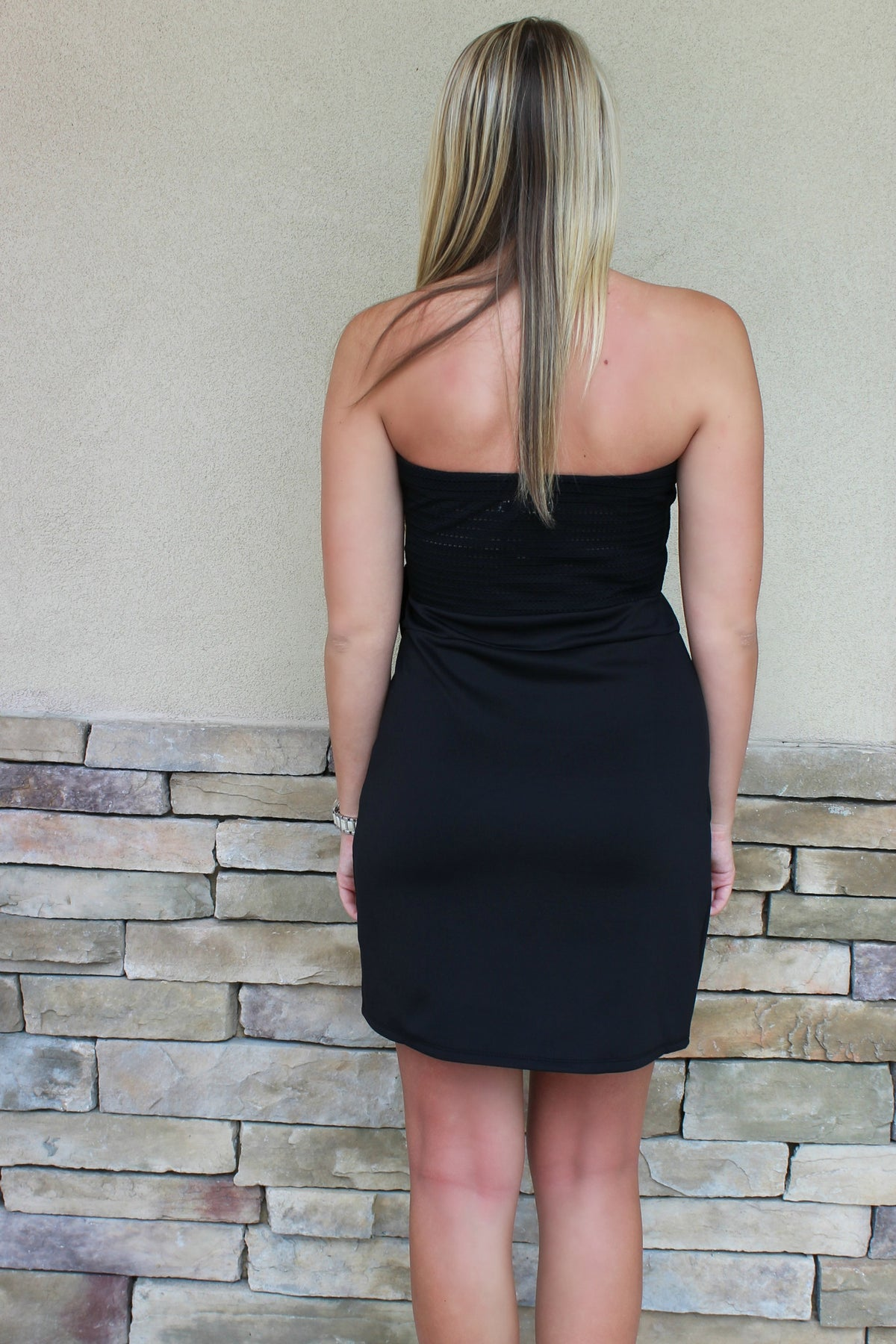 Aaron Dress, Black