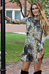 Uncle Frank: Fall Floral Dress, Gray