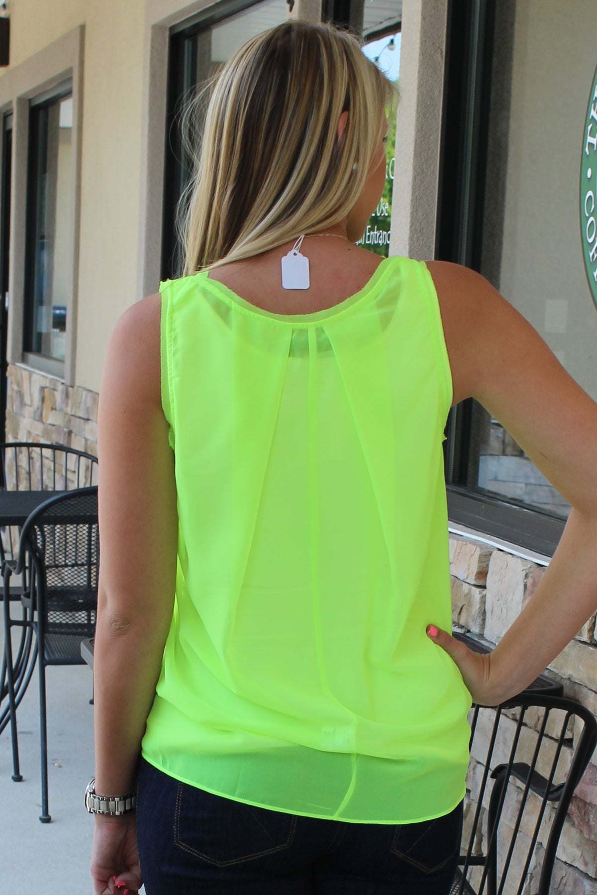 Lori Neon Top, Green