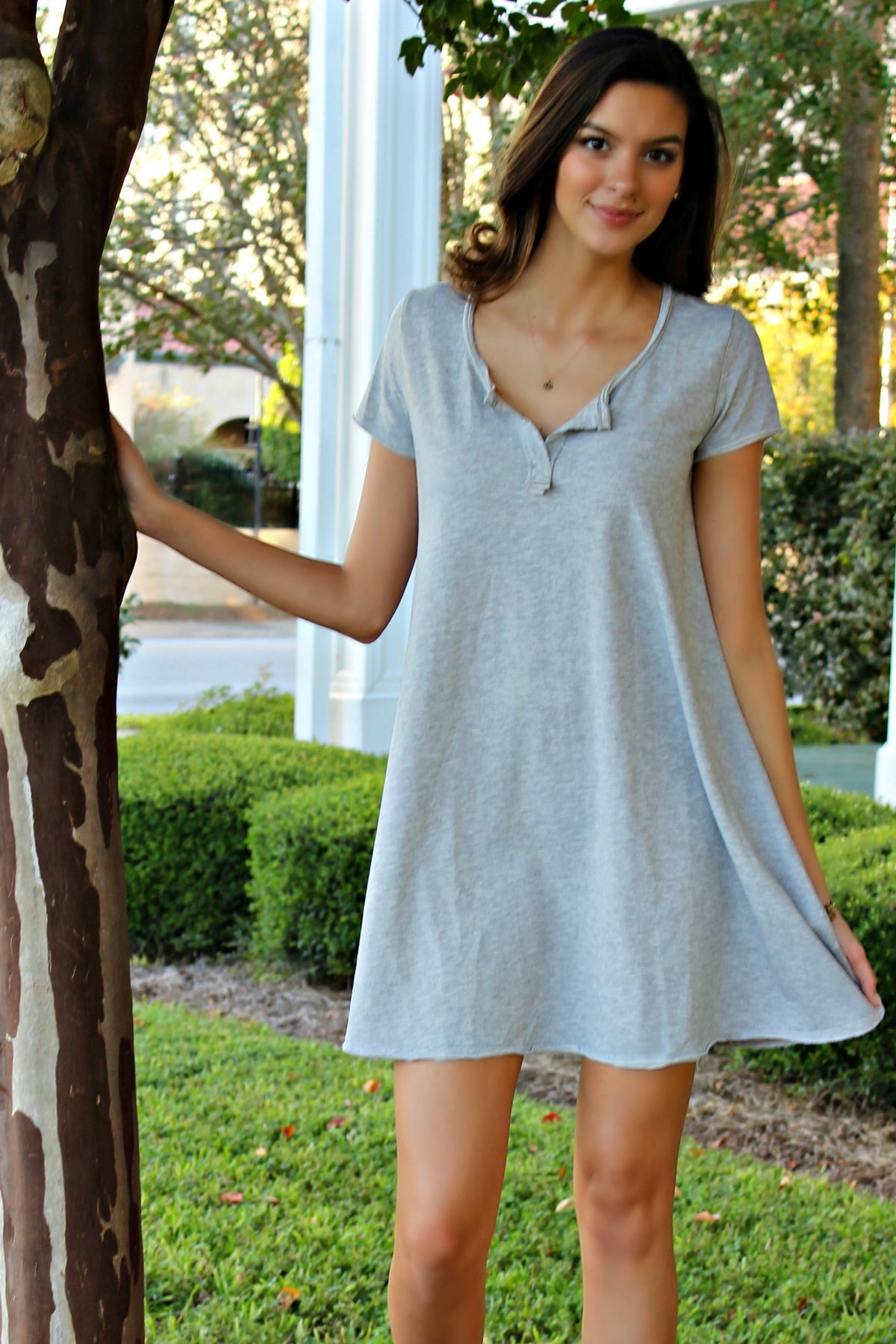 Z Supply: T-Shirt Dress, Gray