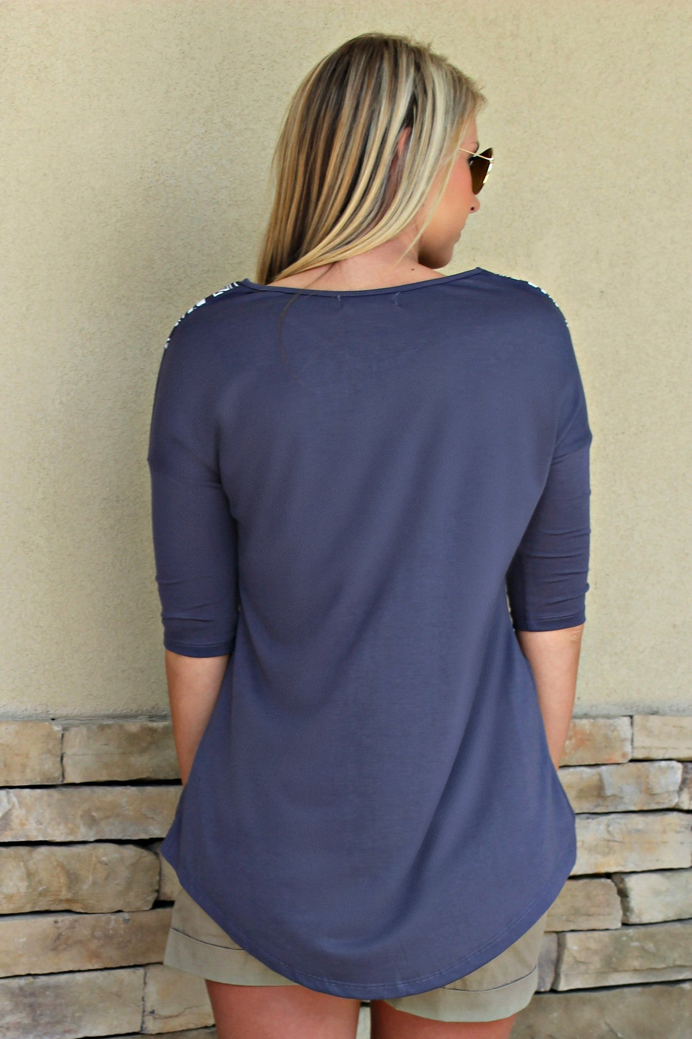 Hope Top, Navy