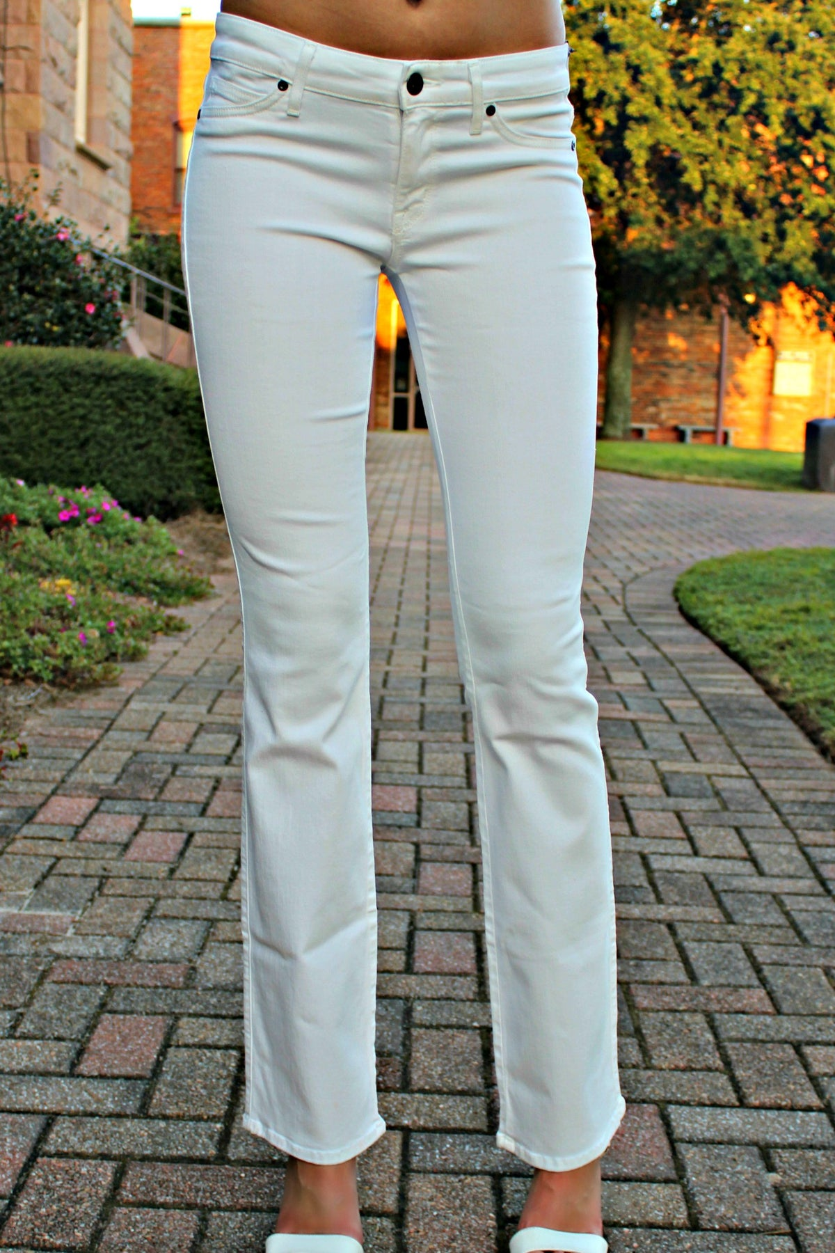 Rich & Skinny: Wedge Denim Jeans, White