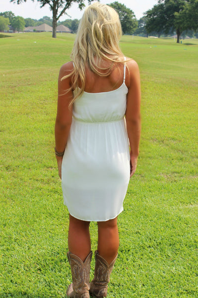 Everly: Mara Dress, White