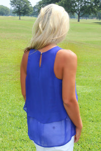 Everly: Kay Sleeveless Top, Royal