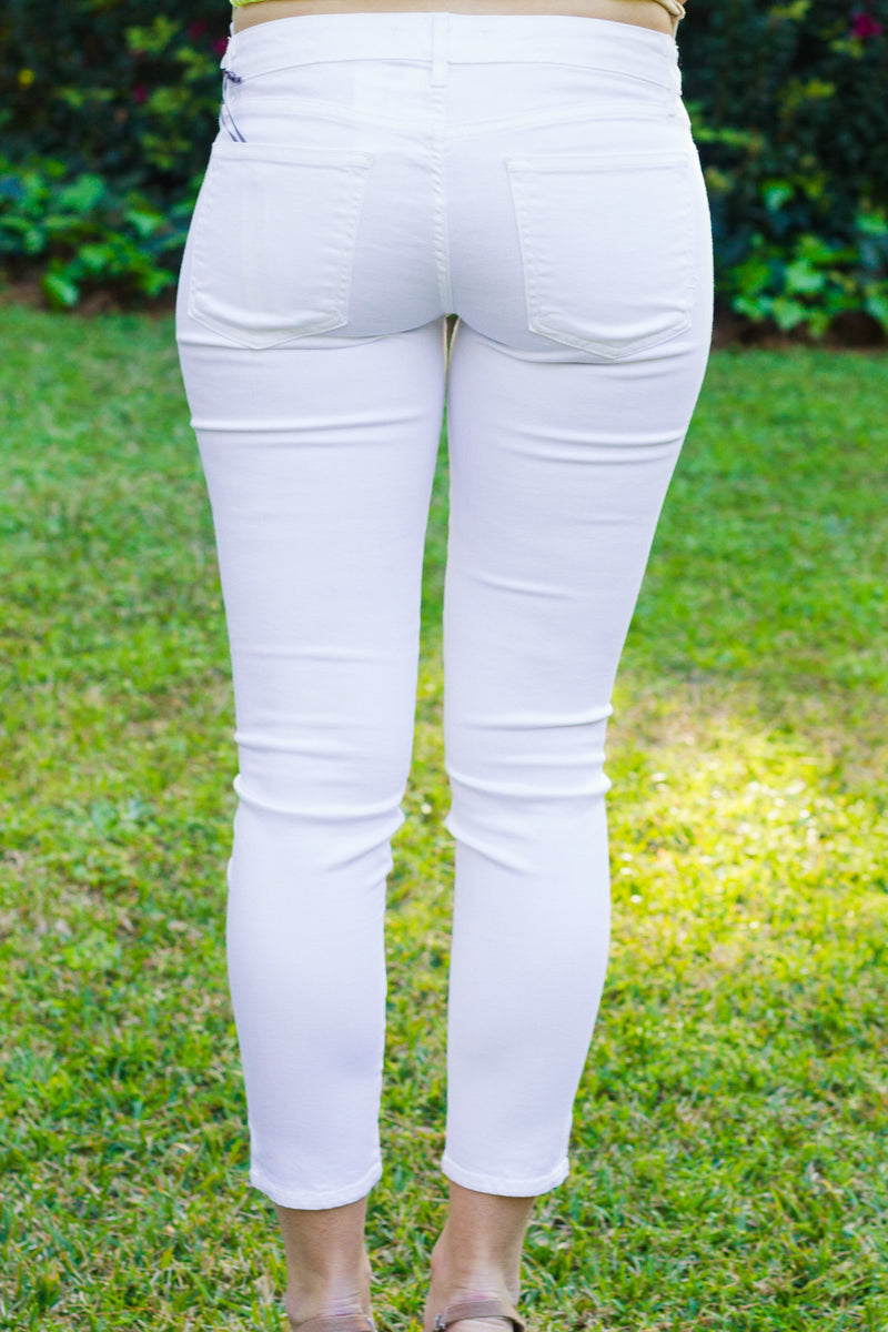 Rich & Skinny: Coronado Crop, White
