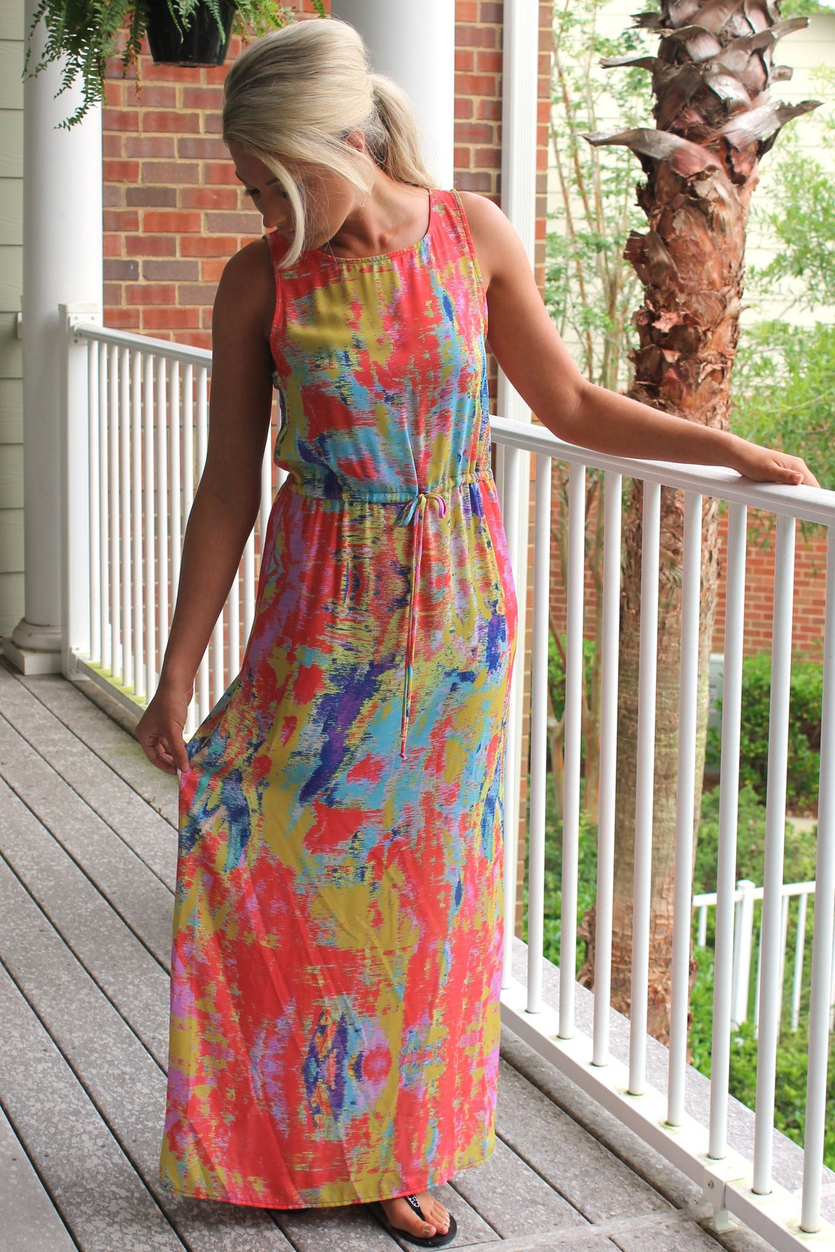 Glam: Avery Maxi Dress, Coral