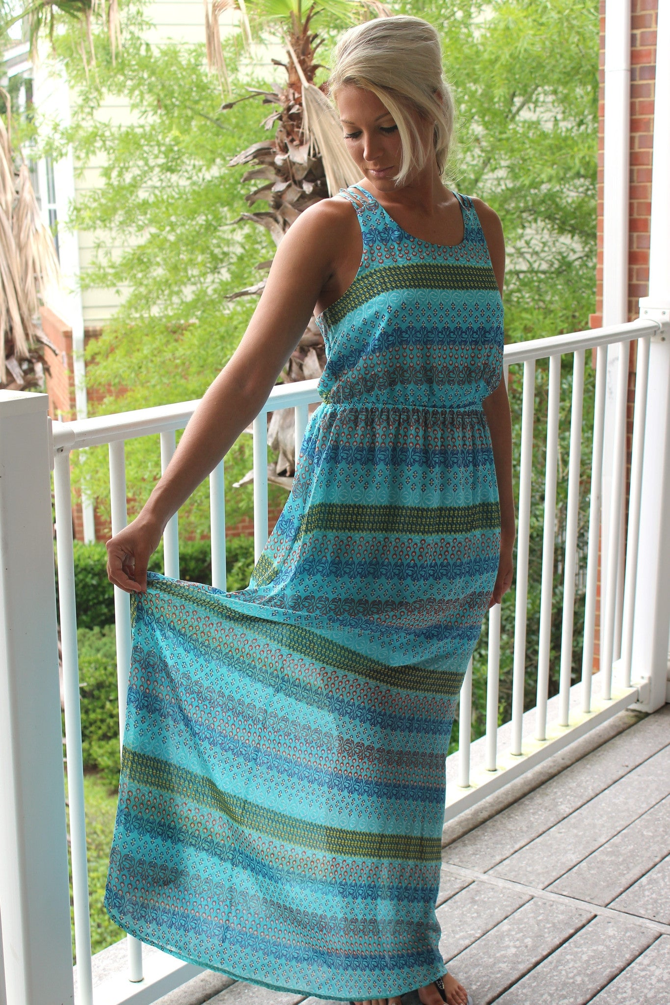 Anne Maxi Dress, Blue