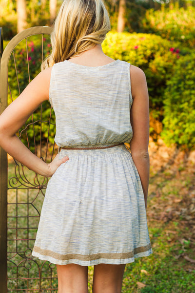 Mollie Dress, Taupe