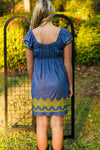 Uncle Frank: Stephanie Dress, Blue