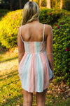 Free People: Joni Dress, Pink/Blue