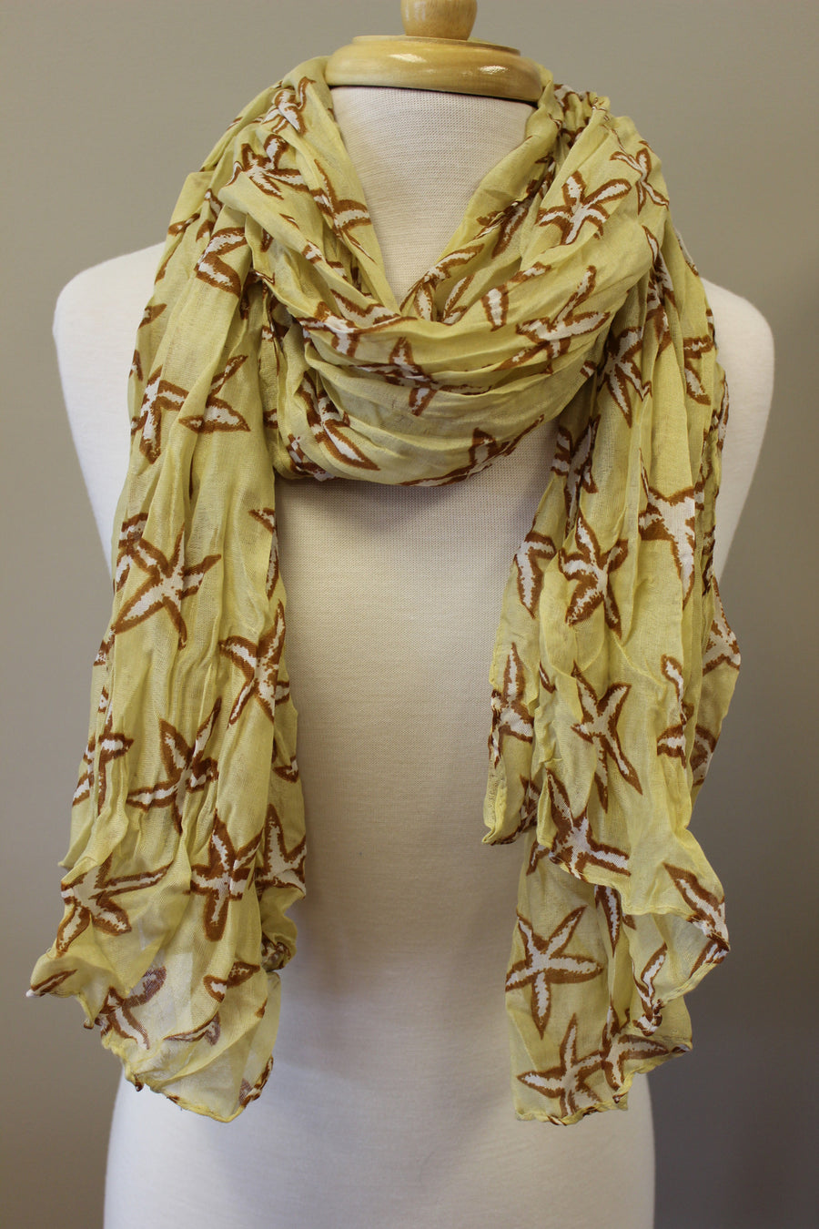 Starfish Scarf, Yellow
