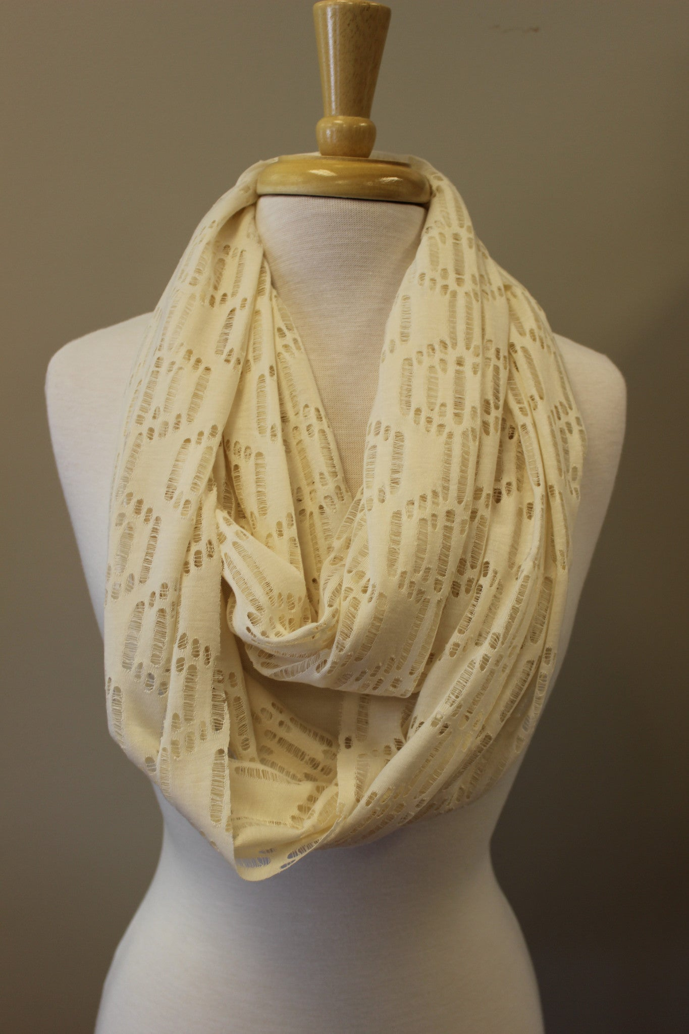 Patrice Infinity Scarf, Ivory