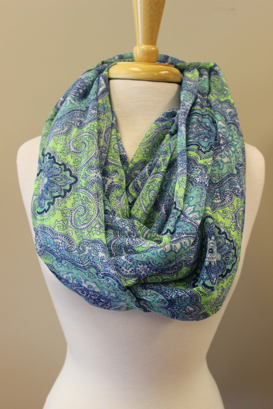 Polly Infinity Scarf, Blue/Green