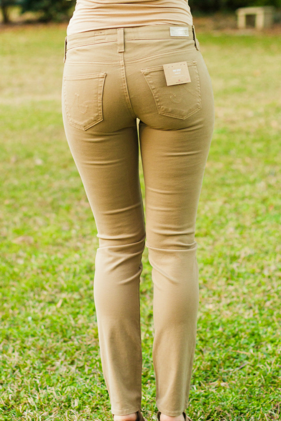 AG Jeans: The Sateen Stilt, Taupe