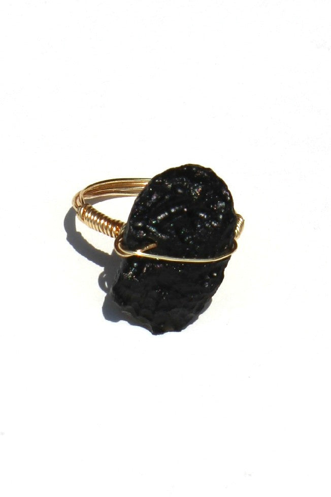 Swara Jewelry: Gemstone Ring, Black