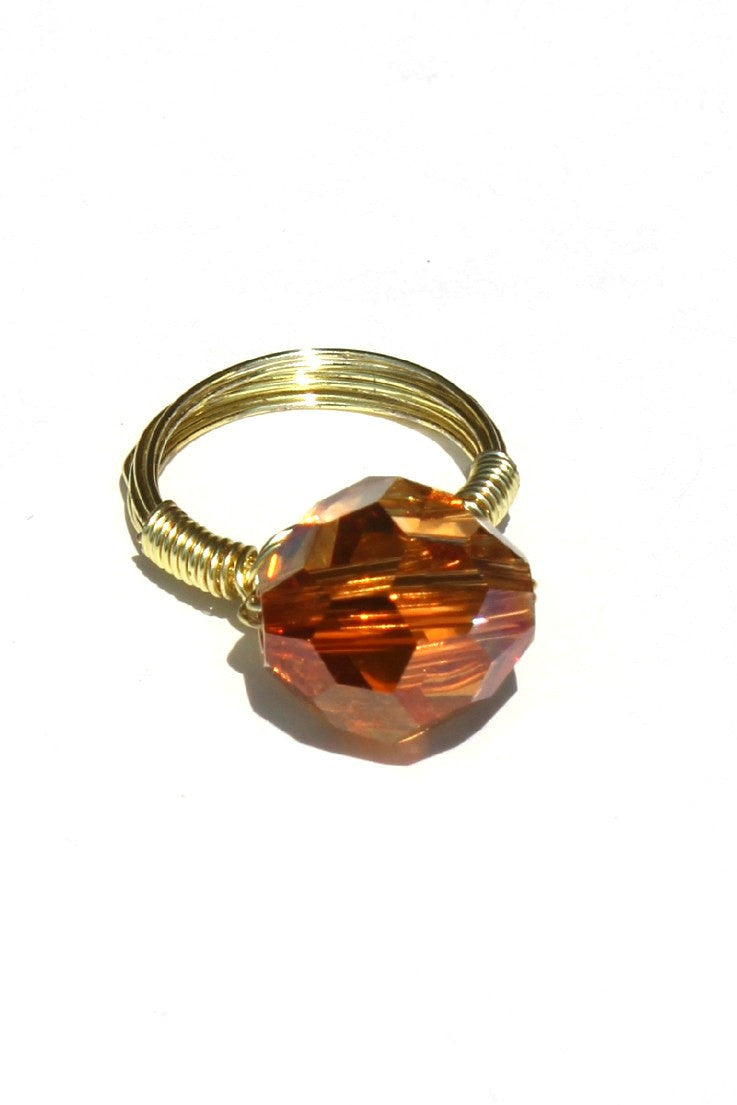 Swara Jewelry: Gemstone Ring, Red