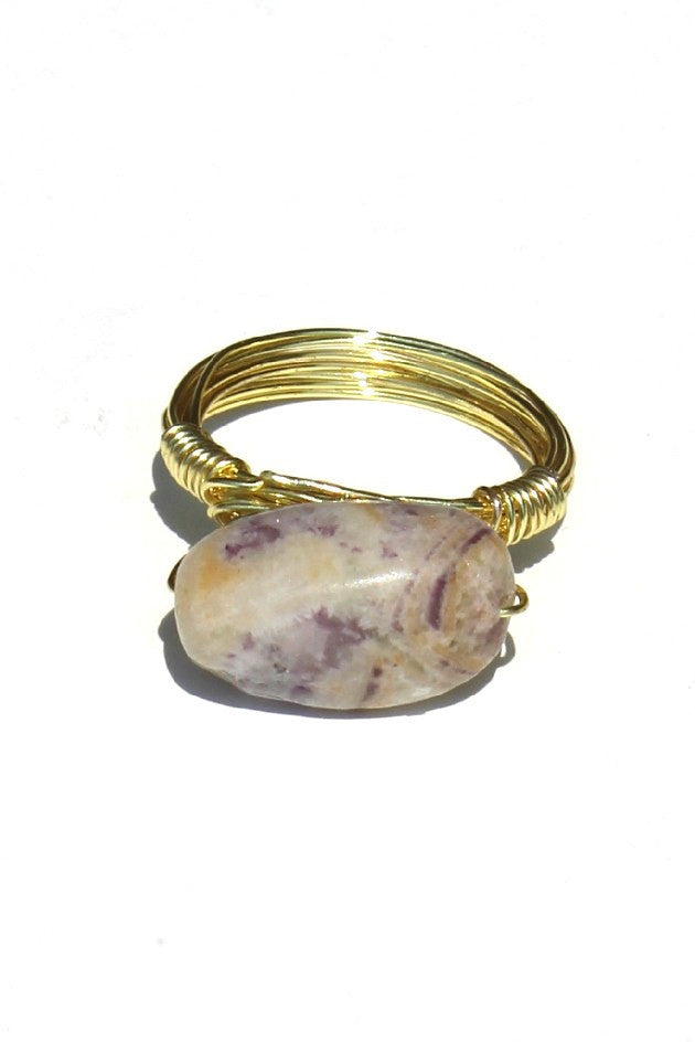 Swara Jewelry: Gemstone Ring, Gray