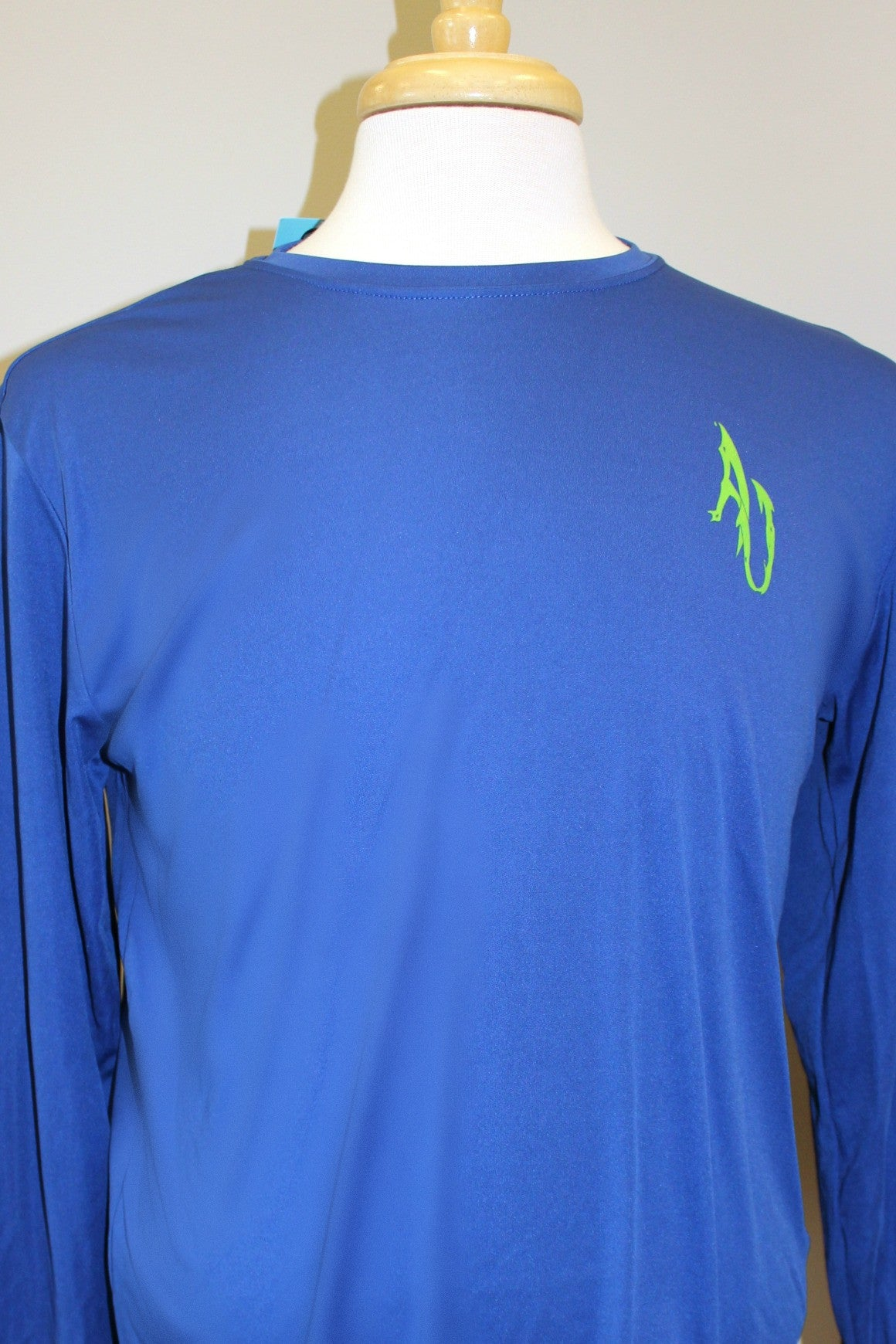 Angler Up: Long Sleeve Performance Tee, Blue/Green