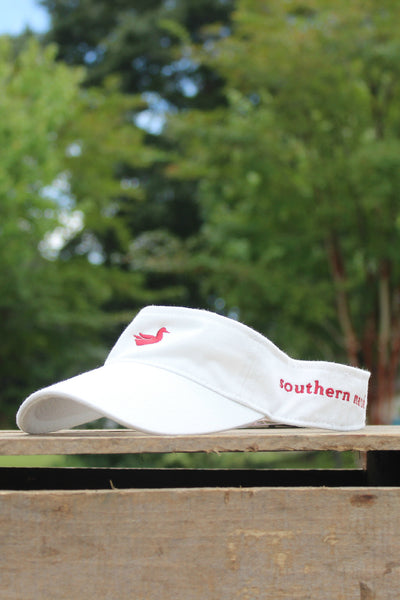 Southern Marsh: Visor, White with Red