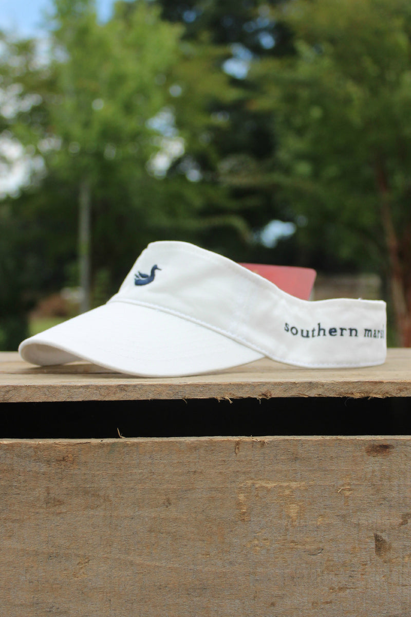Southern Marsh: Visor, White with Navy