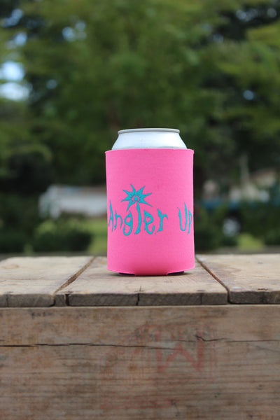 AnglerUp: Koozie, Pink and Teal