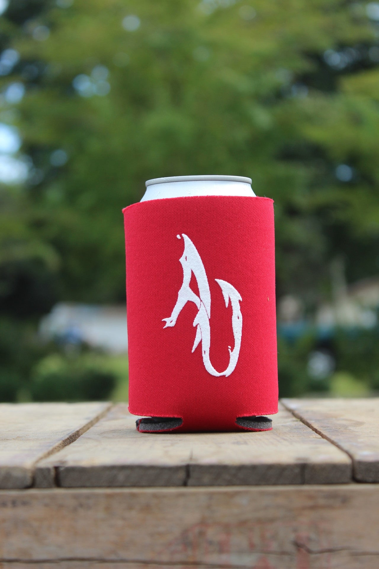 AnglerUp: Koozie, Red and White