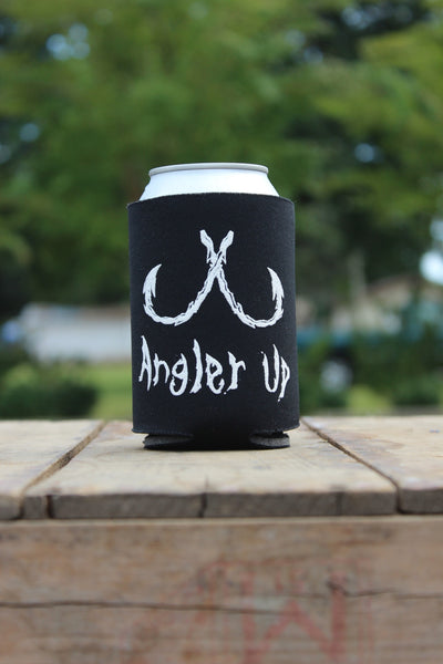 AnglerUp: Koozie, Black and White