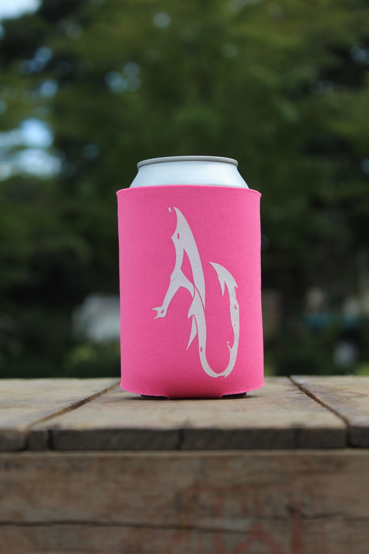 AnglerUp: Koozie, Pink and White