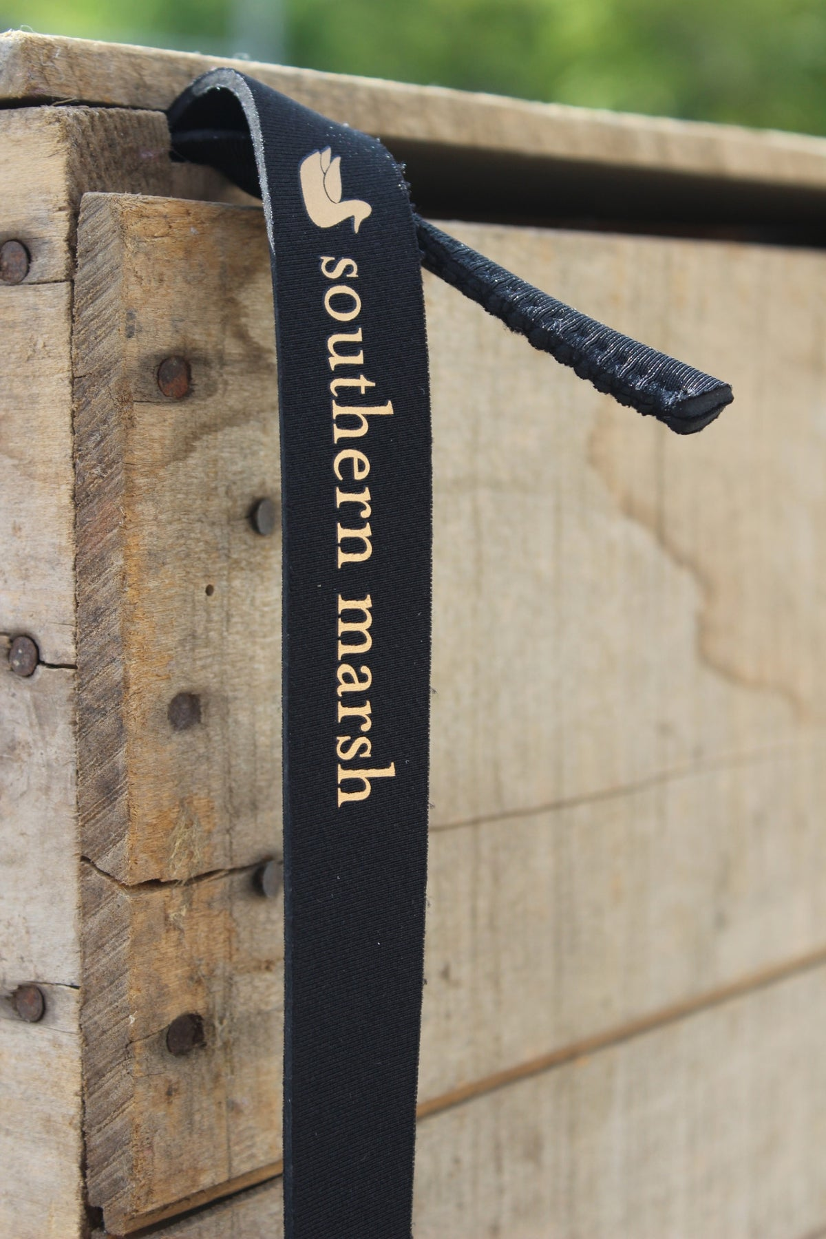 Southern Marsh: Solid Sunglass Strap, Black and Gold
