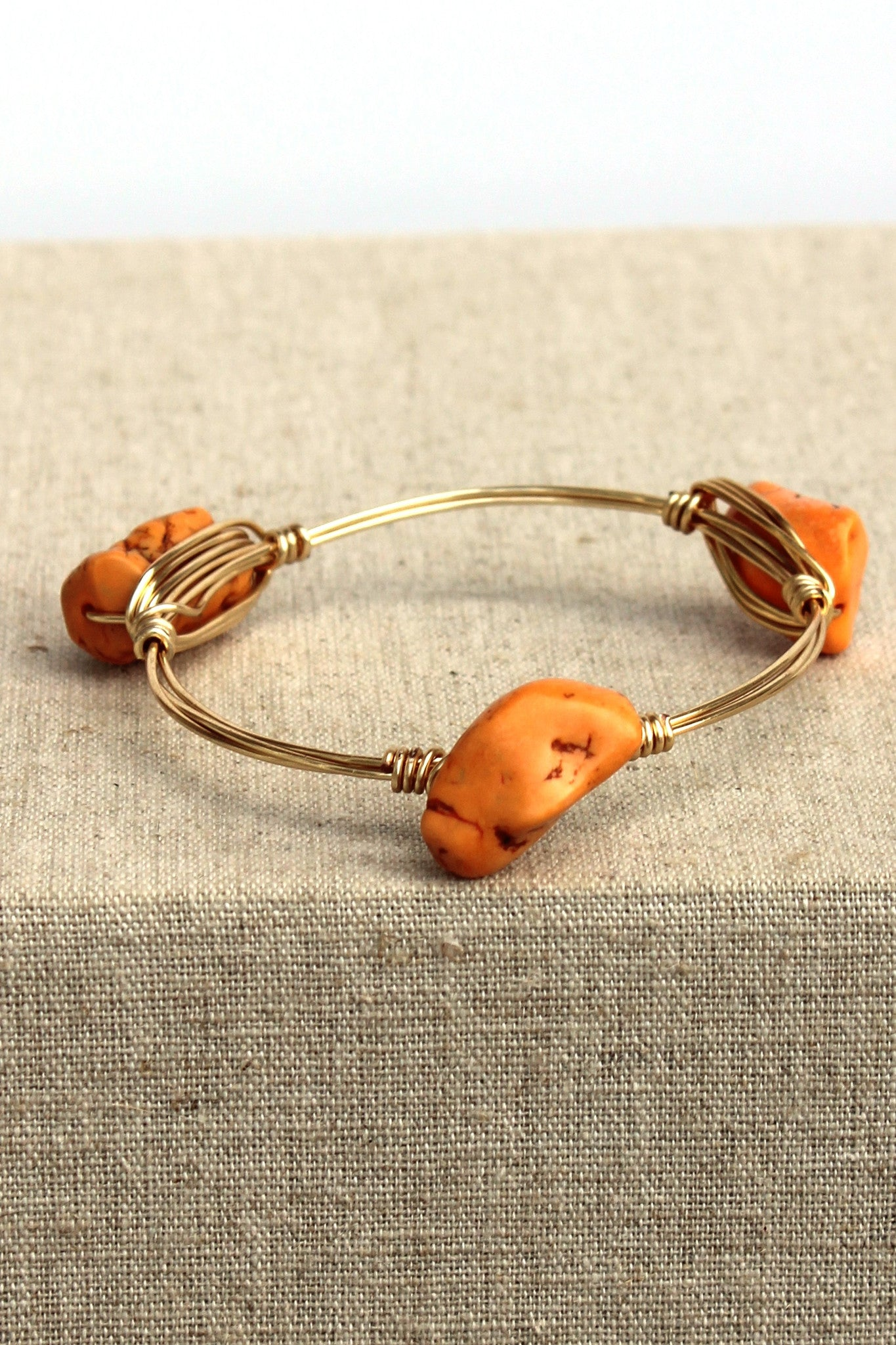 Nugget Bangle, Orange
