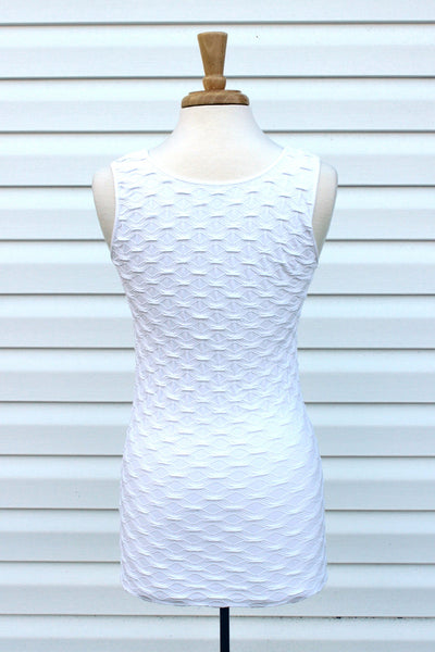 Tees by Tina: Lattice Tank, White