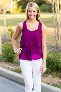 Sweet Pea: Mattie Top, Purple