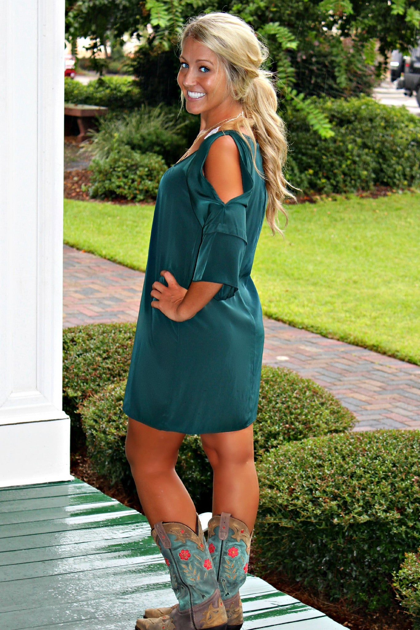 Glam: Laney Dress, Green