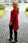 Glam: Natalie Top, Burgundy