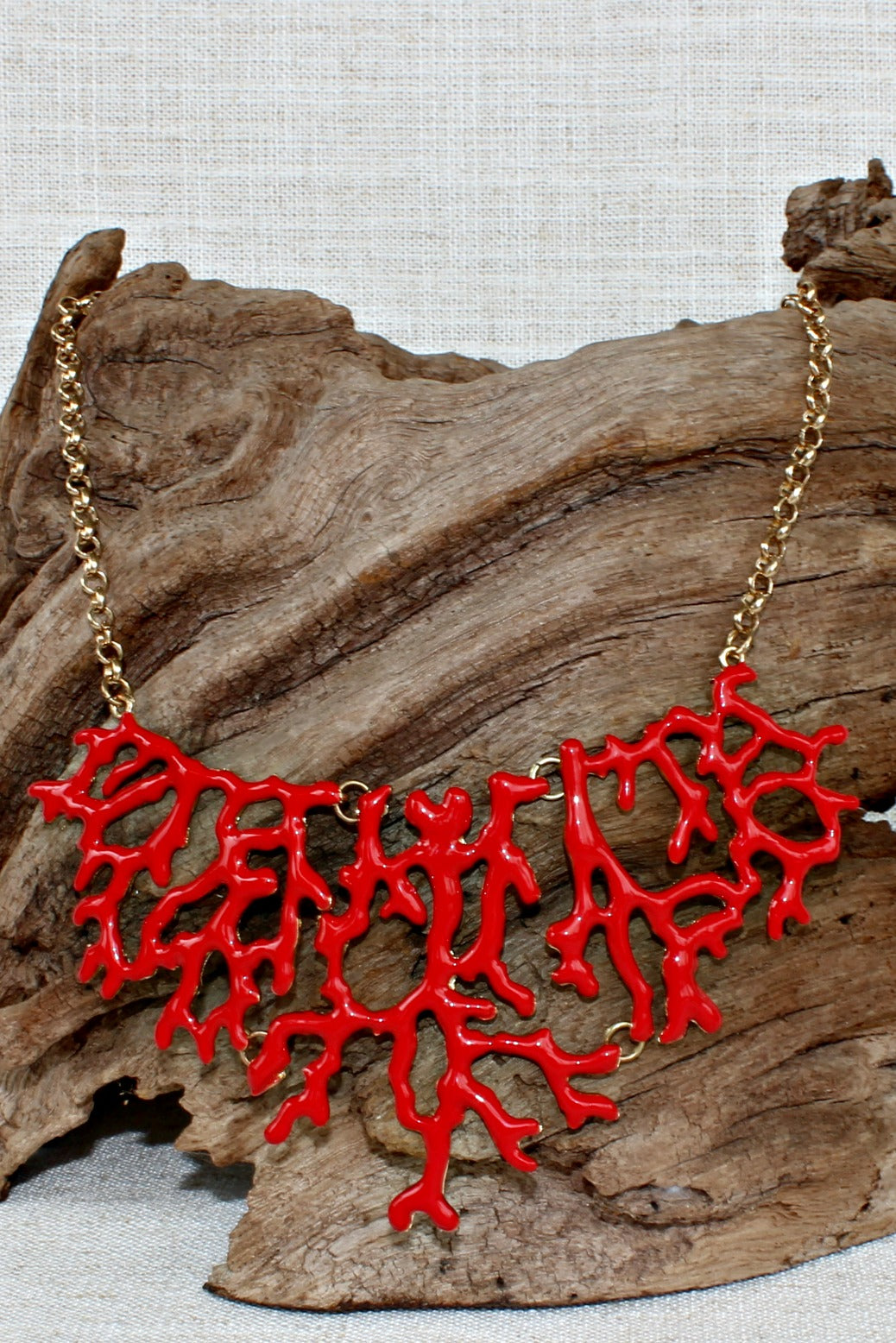 Coral Reef Necklace, Red