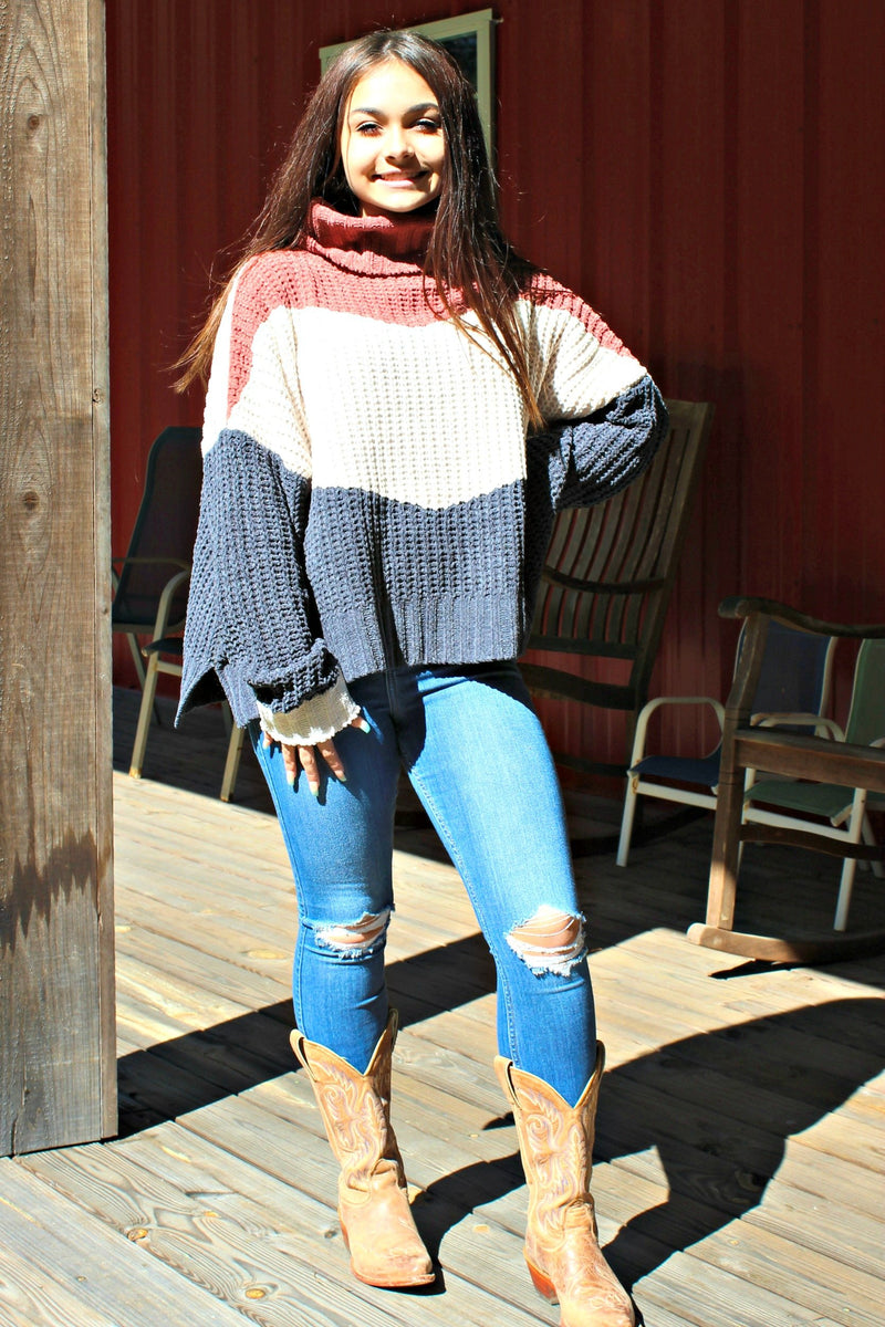 Color Block Sweater, Multi