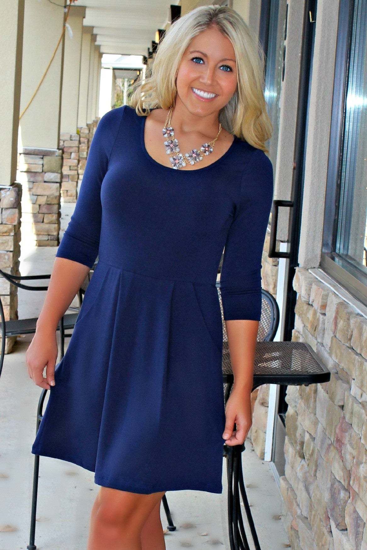 Everly: Chase Dress, Navy
