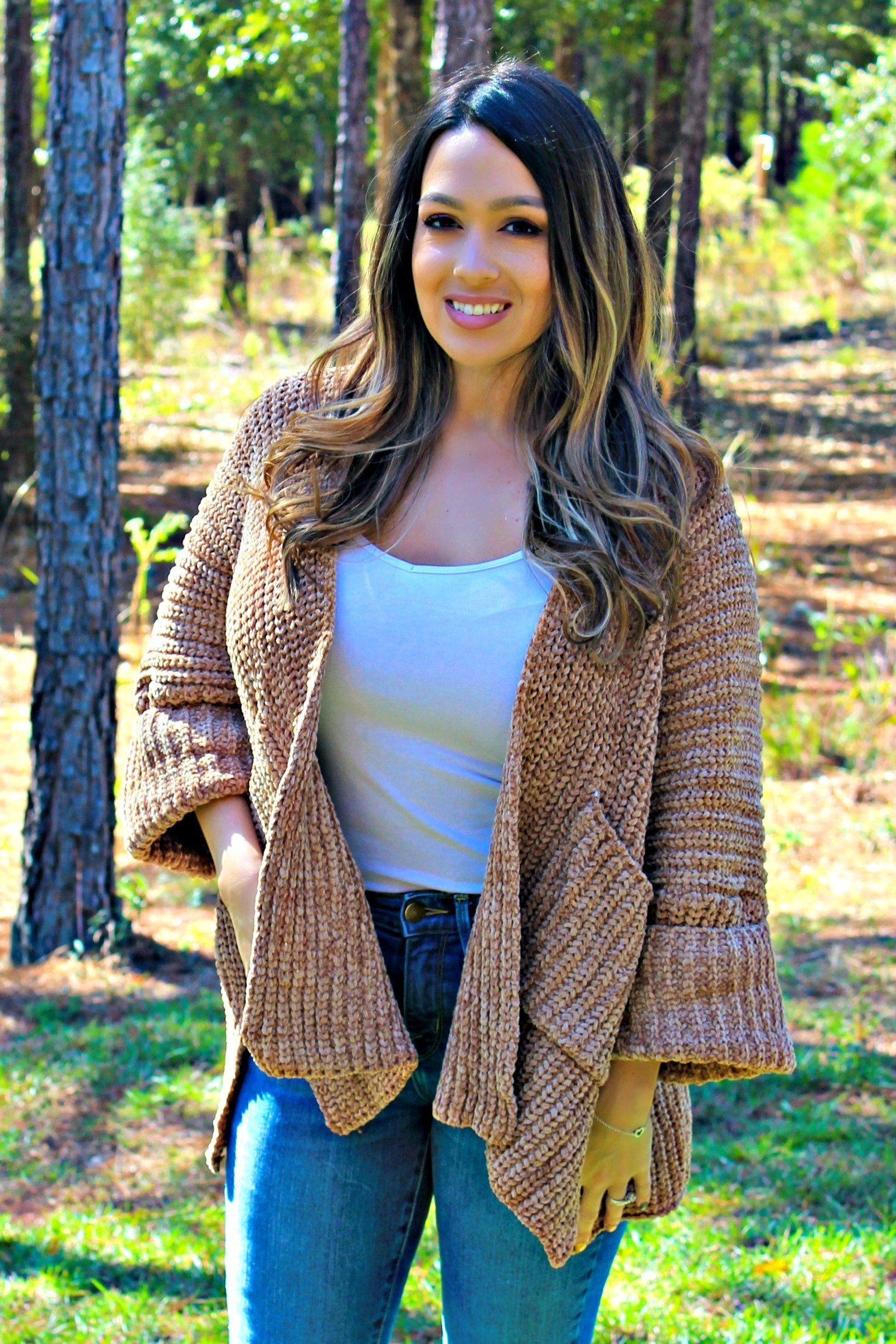 Slouch Cardigan, Camel