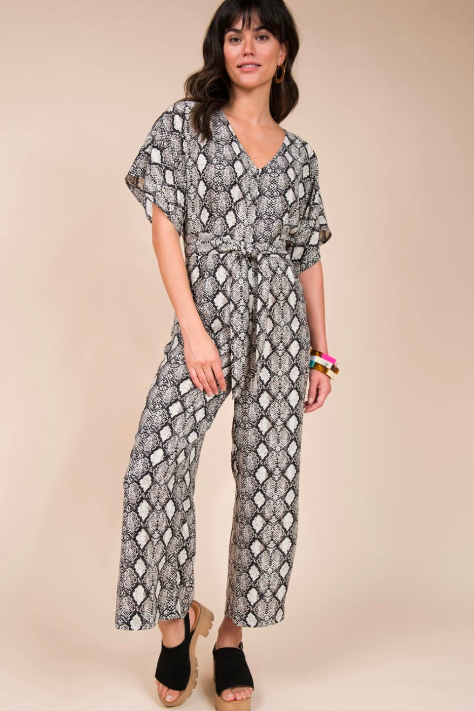 Uncle Frank: Cropped Jumpsuit, Snakeskin