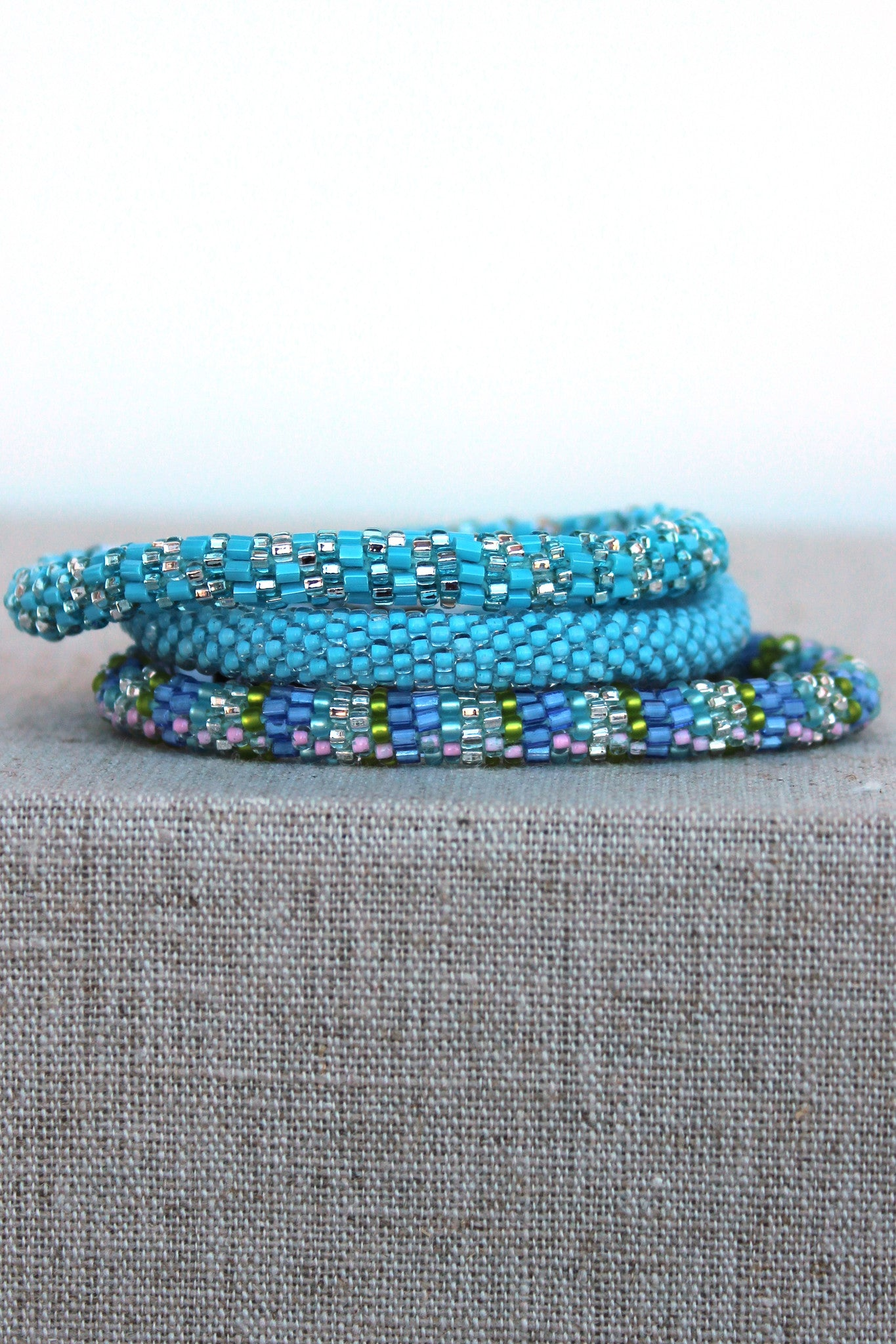 Lily and Laura Bracelet Set, Blue
