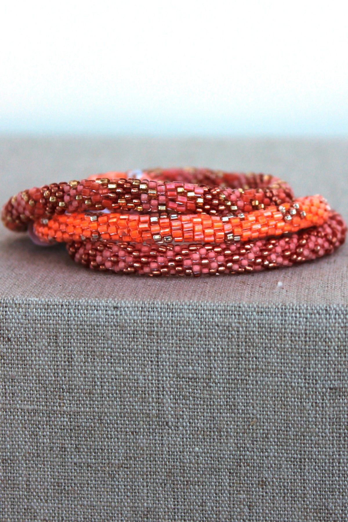 Lily and Laura: Bracelet Set, Coral