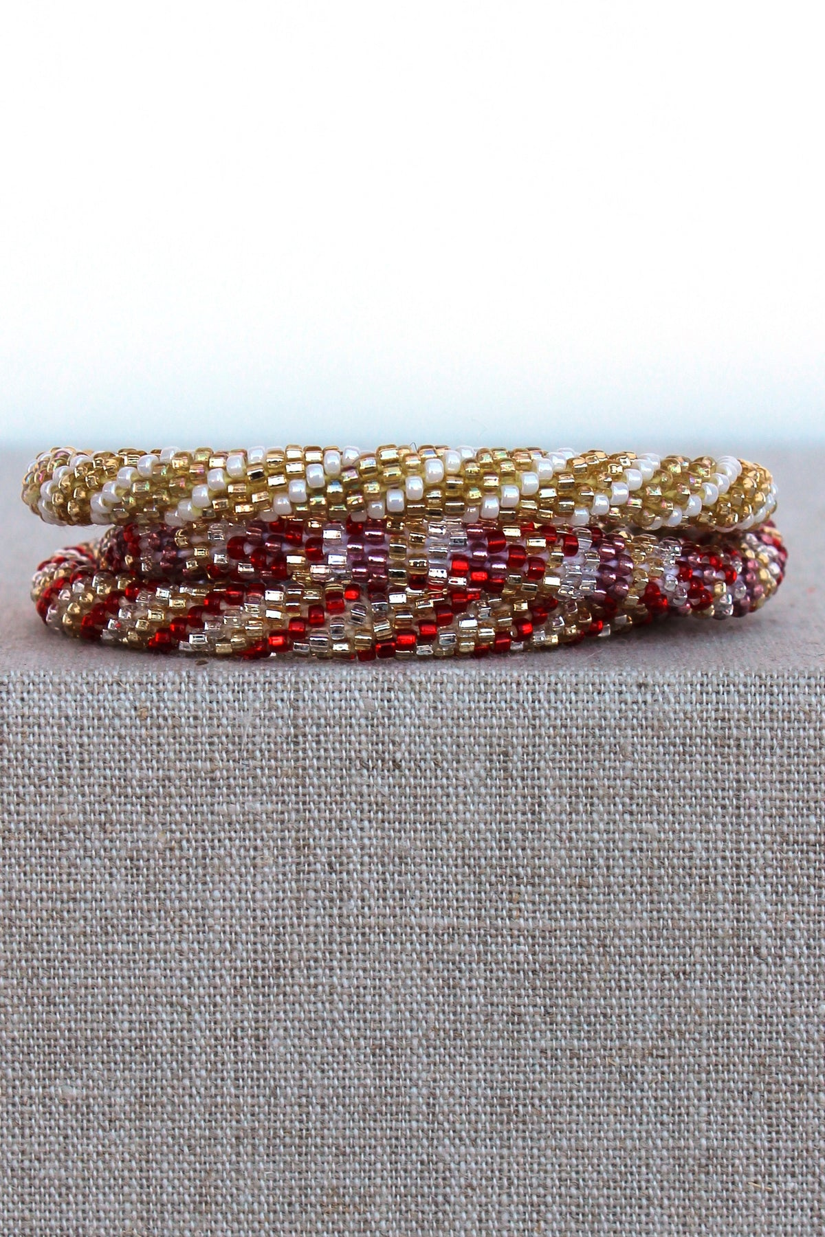 Lily and Laura: Bracelet Set, Red