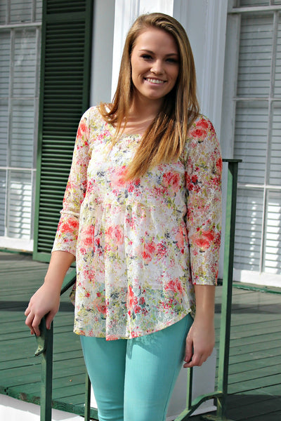 Ivy Jane: Nancy Top, Floral