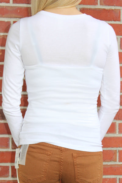 Long Sleeve Top, White